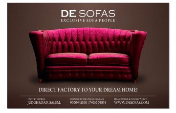 SOFAS AND COT